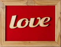 Jour du ` s de St Valentine Cadre rouge avec l'AMOUR d'inscription Concept : amour texture blanche Image libre de droits