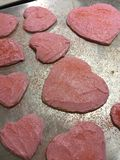 Jour du ` s de Sugar Cookies Valentine de coeur Image libre de droits