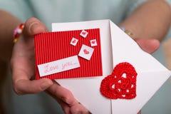 Jour du ` s de Valentine - carte de voeux Photo libre de droits