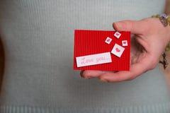 Jour du ` s de Valentine - carte de voeux Image stock