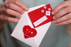 Jour du ` s de Valentine - carte de voeux Photos libres de droits