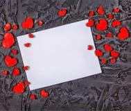 Jour du ` s de Valentine, jour du ` s de Valentine Carte de gettings du ` s de Valentine Photographie stock libre de droits