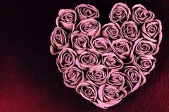 Jour du ` s de Valentine - coeurs des roses Photo libre de droits