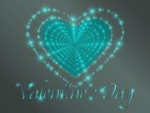 Jour du `s de Valentine Coeurs rougeoyants Images libres de droits
