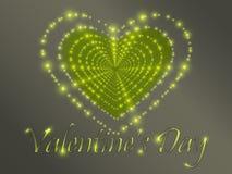 Jour du `s de Valentine Coeurs rougeoyants Photo libre de droits
