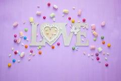 Jour du ` s de Valentine d'histoires d'amour Photos stock