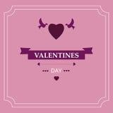 Jour du ` s de Valentine de carte Éléments de conception ENV 10 Photographie stock