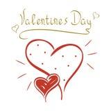 Jour du ` s de Valentine de carte illustration libre de droits