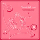 Jour du ` s de Valentine de carte postale Photo libre de droits