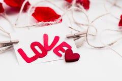 Jour du ` s de Valentine de carte postale Image libre de droits
