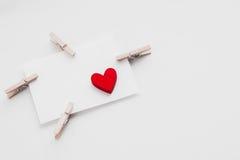 Jour du ` s de Valentine de carte postale Photos stock