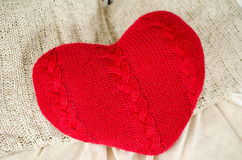Jour du ` s de Valentine de coeur de Knit Images libres de droits