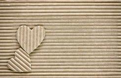 Jour du ` s de Valentine, deux coeurs Photos libres de droits