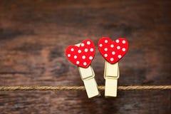 Jour du `s de Valentine Deux coeurs d'amants Images libres de droits