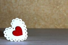 Jour du ` s de Valentine, mariage, amour OE à jour lumineux blanc et rouge Image libre de droits