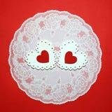 Jour du ` s de Valentine, mariage, amour OE à jour lumineux blanc et rouge Photographie stock libre de droits