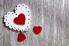Jour du ` s de Valentine, mariage, amour OE lumineux à jour et rouge blanc Photos stock