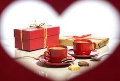 Jour du `s de Valentine Vue sous forme de coeur Photo libre de droits