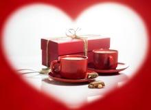 Jour du `s de Valentine Vue sous forme de coeur Image libre de droits