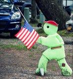Jour du Souvenir au terrain de camping hors de la ville de New York photos stock
