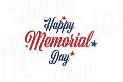 Jour du Souvenir heureux Carte de voeux avec des étoiles Événement américain national de vacances Illustration plate EPS10 de vec illustration libre de droits