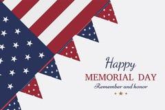 Jour du Souvenir heureux Carte de voeux avec le drapeau et soldat sur le fond illustration de vecteur