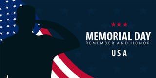 Jour du Souvenir Rappelez-vous et honorez LES Etats-Unis Indicateur américain illustration de vecteur