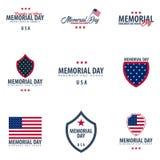 Jour du Souvenir Rappelez-vous et honorez LES Etats-Unis Indicateur américain illustration libre de droits