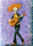 Jour du squelette mort de mariachi illustration libre de droits