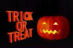 Jour effrayant de Halloween de potiron Images libres de droits