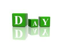 Jour en cubes 3d Photos stock