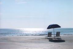 Jour ensoleillé à la plage Image libre de droits