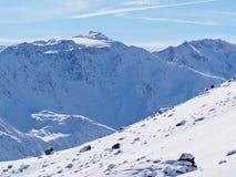 Jour ensoleillé après neige fraîche Photo libre de droits