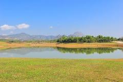 Jour ensoleillé au parc de Singha, Mueang Chiang Rai District, Chiang Rai, Thaïlande du nord Photographie stock libre de droits