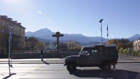 Jour ensoleillé dans Innsbruck' ; s du centre banque de vidéos