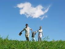 Jour ensoleillé de famille photos libres de droits