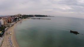 Jour ensoleillé 2014 de la Bulgarie Nessebar de vue de l'oeil de Byrd Image stock
