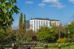 Jour ensoleillé de Vienne au printemps, Autriche Photos stock
