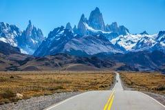 Jour ensoleillé en février dans le Patagonia argentin Image libre de droits