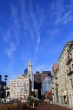 Jour ensoleillé magnifique au long quai, Boston, le Massachusetts, octobre 2013 Photo libre de droits
