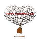 Jour et coeur de valentines des boules de base-ball Images libres de droits