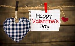 Jour et coeur de valentines heureux Image stock