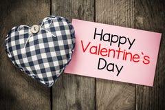 Jour et coeur de valentines heureux Photos libres de droits