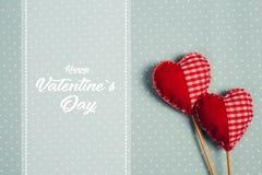 Jour et coeur de valentines heureux - Image images stock
