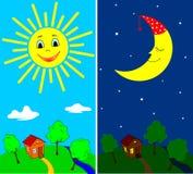Jour et nuit illustration de vecteur