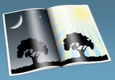 Jour et nuit Photo libre de droits