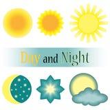 Jour et nuit icône de vecteur Photo stock