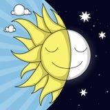 Jour et nuit illustration Images stock