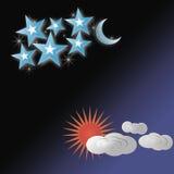Jour et nuit illustration Image libre de droits