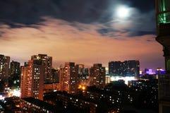 Jour et nuit, Pékin Photo libre de droits